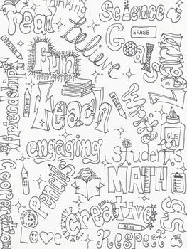 coloring pages for school subjects school wordle coloring page by jess moehle teachers pay