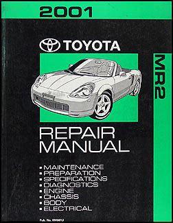 2001 toyota mr2 wiring diagram manual original