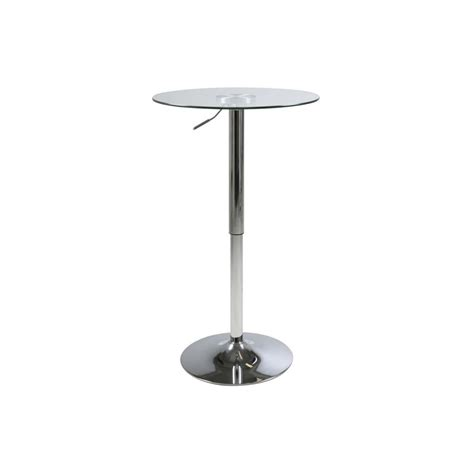 table haute verre table haute de bar ronde en verre transparent mykaz