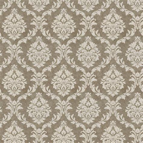 Mocha damask fabric by the yard brown fabric carousel designs