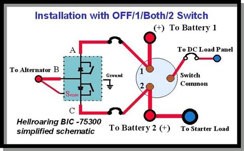 boat battery switches wiring diagram efcaviation