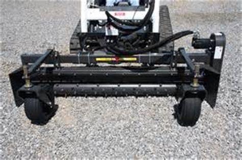 Landscape Rake Skid Steer Rental Lawn Harley Rake Attachment For A Mini Skid Steer M And