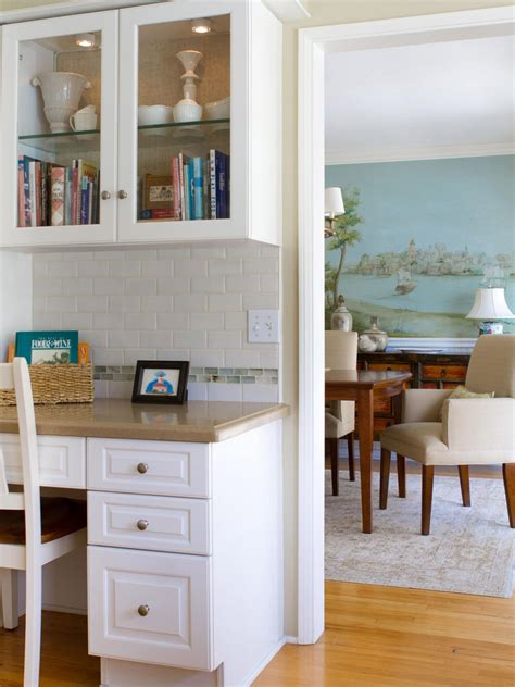 built in kitchen desk photo page hgtv