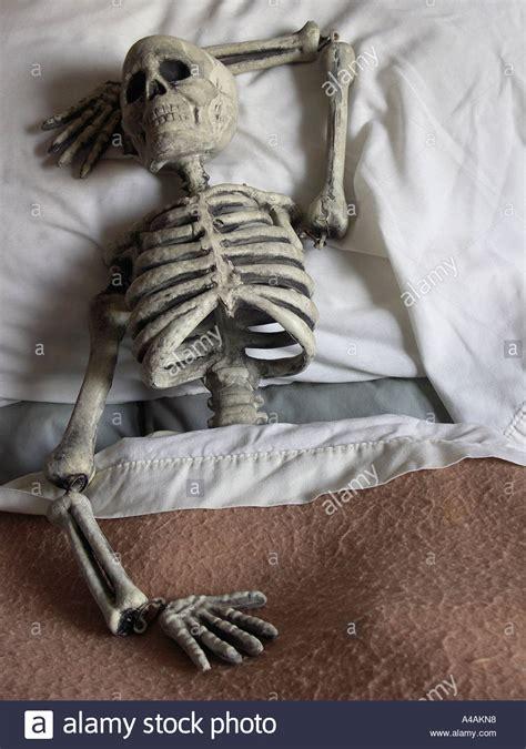 skeleton in bed skeleton in bed skeleton sleeping stock photo royalty free image 6279319