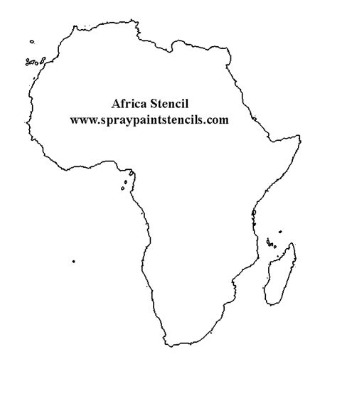 africa map outline free states and country stencils