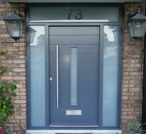 Contemporary Upvc Front Doors Contemporary Front Door Grey Two Sidelights Front Doors Grey Front Doors And House