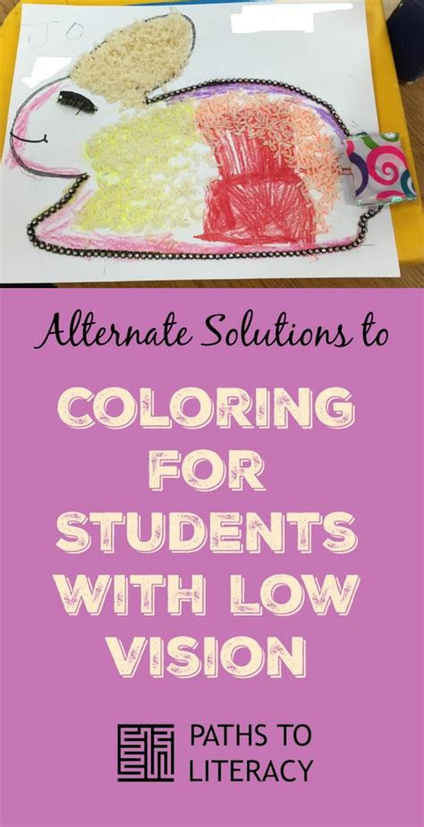 coloring books for visually impaired alternate solution to coloring for children with low