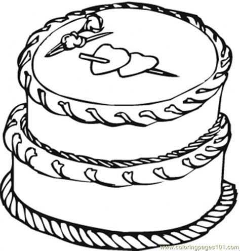 coloring page of cake cake with big hearts coloring page free desserts