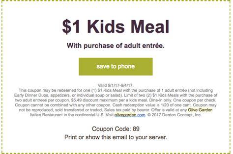 olive garden 1 kid july 2017 free stuff finder the best free stuff free sles freebies