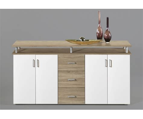 kommode 180 breit highboard kommode sideboard eiche s 228 gerau dekor wei 223