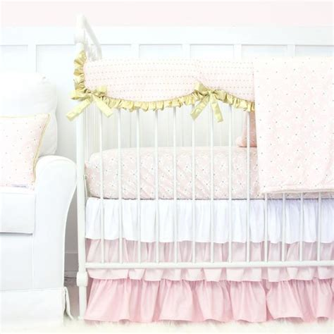 Blush Baby Bedding by Pastel Baby Crib Bedding Caden