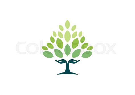 tree symbol font tree logo wellness health symbol icon