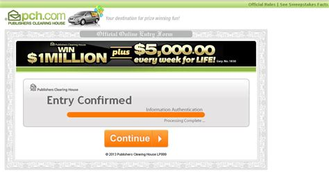 Pch Com Sweepstakes Entry Registration - confirm claim entry pch autos post