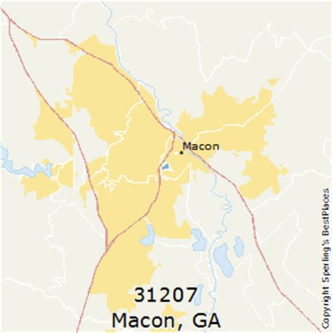 macon zip code map best places to live in macon zip 31207