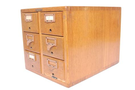 Card Cabinet by Remington Rand Library Bureau Card Catalog 6 Drawer File