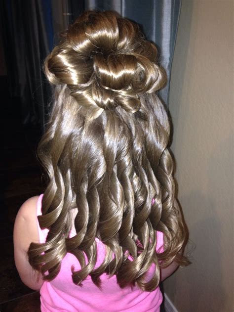 father daughter dance hairstyles for girls little girl s half up half down formal hair daddy