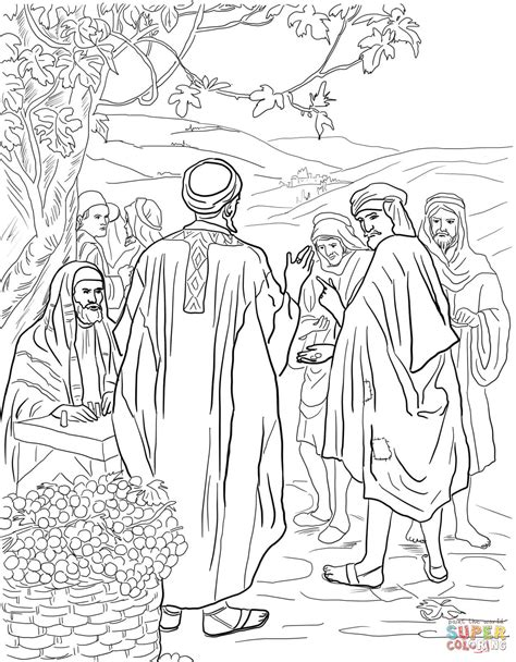 Workers In The Vineyard Coloring Page parable of the workers in the vineyard coloring page