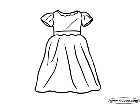 coloring page of a dress clothes and dresses coloring pages