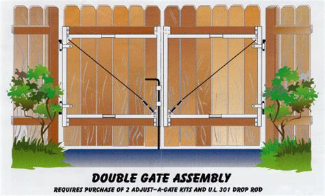 how to build a double swing wooden gate adjust a gates at fox