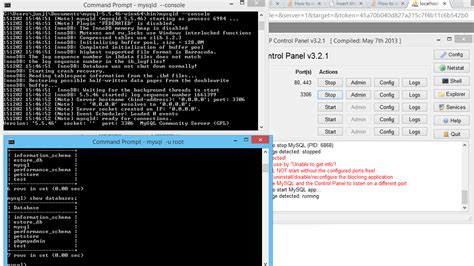 mysql console import xp mysql console to phpmyadmin