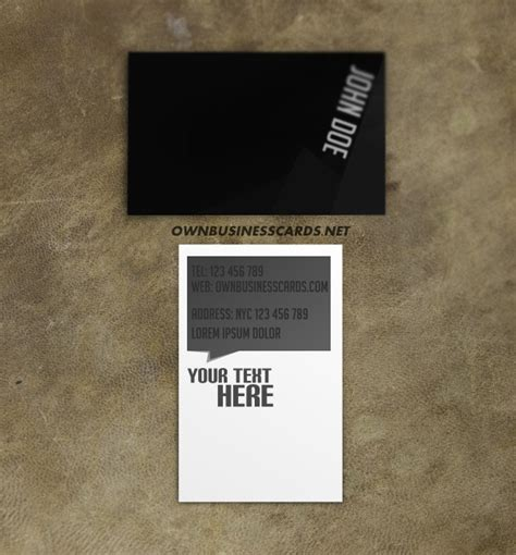 black business card template black and white business card template