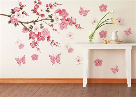 Vinilos Decorativos Arbol #5: Pink-flowers-butterfly-bathroom-decor-removable-large-wall-stickers-princess-love-room-decoration-wall-art-poster.jpg