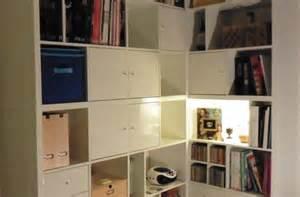 Diy Craft Desk Une Biblioth 232 Que D Angle Sur Mesure Avec Kallax