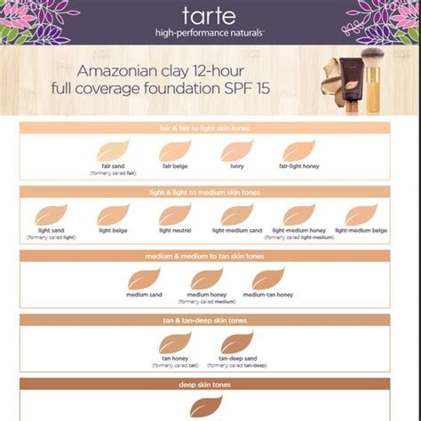 tarte foundation colors amazonian clay 12 hour coverage foundation spf 15