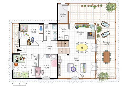 Maison Familiale Plan by Maison Familiale 4 D 233 Du Plan De Maison Familiale 4