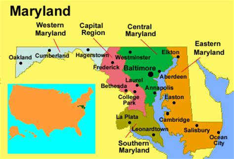 maryland map and surrounding states is maryland part of the american south in terms of