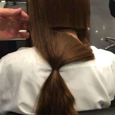 hair cuting techniques 75 best images about ponytail chops on pinterest