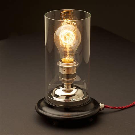 Nickel Bathroom Lights Vintage Glass Tube Nickel Table Lamp