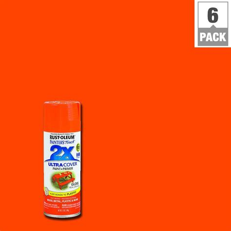 rust oleum painter s touch 2x 12 oz gloss sun yellow general purpose spray paint 249092 the