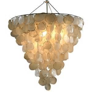 chandelier shell capiz shell chandeliers cozy bliss