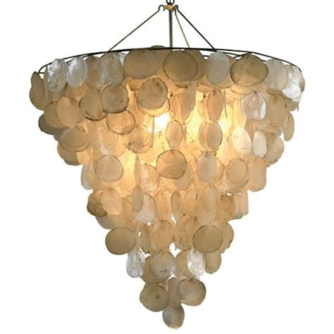 Shell Chandelier Capiz Shell Chandeliers Cozy Bliss