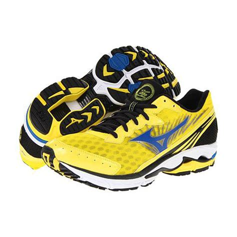 mizuno s wave rider 16 running shoe mizuno wave rider 16 sz 9 5 mens running shoes yellow blue