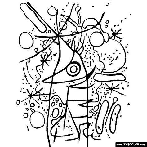 coloring book miro colouring 3791370391 joan miro singing fish coloring page mir 243 printing colorante joan mir 243 y pez