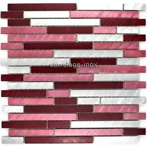 Carrelage Salle De Bain Rouge #2: mosaique-aluminium-carrelage-cuisine-credence-blend-rouge.jpg