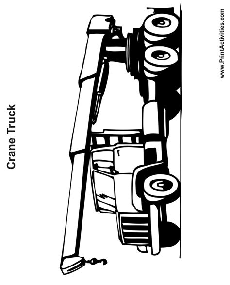coloring page crane truck truck coloring page crane truck