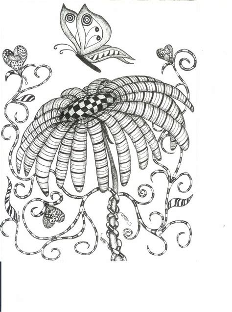 butterfly doodle coloring pages butterfly wings hearts flower abstract doodle zentangle