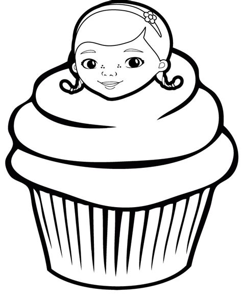 hello kitty cupcake coloring pages cupcake coloring page 4 cupcake sweets pinterest