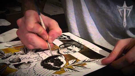 tattoo flash pens tattoo flash painting watercolour ink illustration time