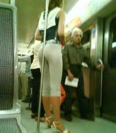 Bus Handrail Nice And She Even Does Not Need Hands To Stand Firm