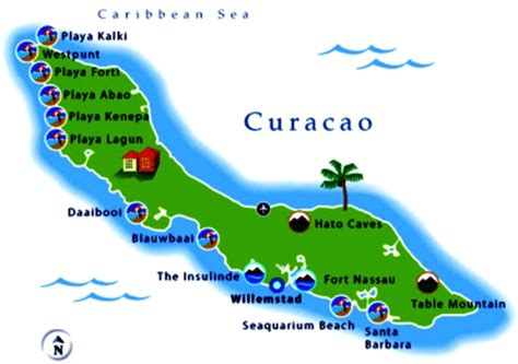 printable curacao road map curacao beaches a well kept secret in the caribbean
