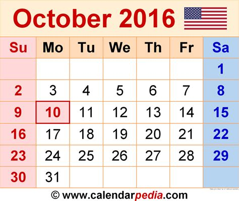 printable calendar october 2015 to february 2016 october 2016 calendar pdf 2017 printable calendar