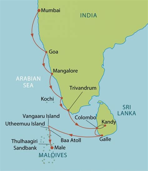 maldives map indian malediven karte routen