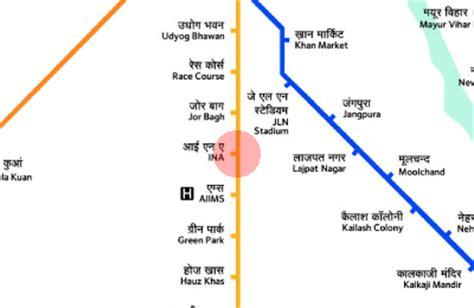 INA station map - Delhi Metro