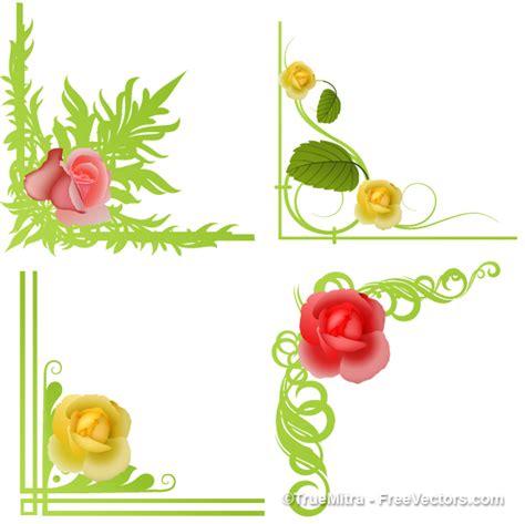 cornici con fiori cornice da collana fiori scaricare vettori gratis
