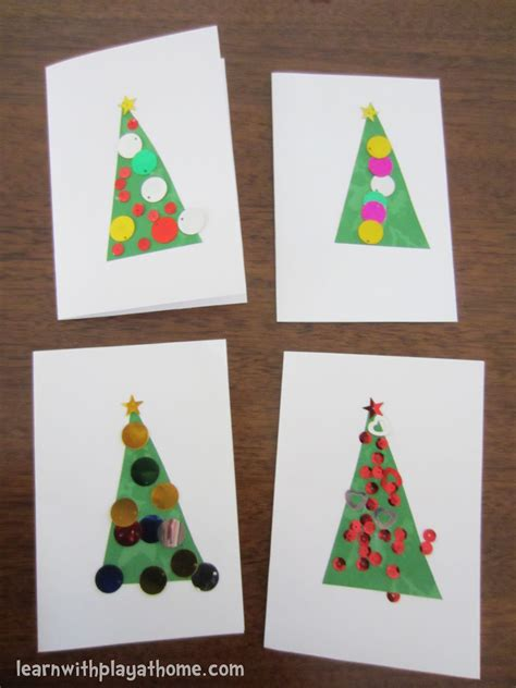 simple cards for children to make learn with play at home simple cards