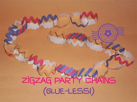 How To Make Paper Chains Without Glue - the papercraft post glue less zigzag paper chains